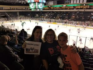 Bonnie attended Texas Stars vs. Rockford Icehogs - Game One- Western Conference Finals - AHL on May 18th 2018 via VetTix