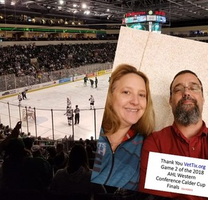 Daniel attended Texas Stars vs. Rockford Icehogs - Game Two - Western Conference Finals - AHL on May 20th 2018 via VetTix