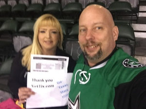 Bradley attended Texas Stars vs. Rockford Icehogs - Game Two - Western Conference Finals - AHL on May 20th 2018 via VetTix