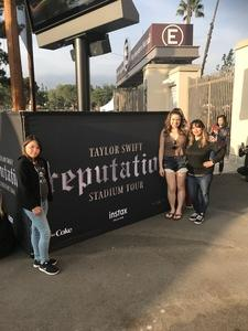 Flor attended Taylor Swift Reputation Stadium Tour on May 18th 2018 via VetTix