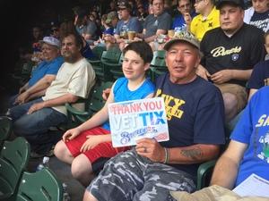 Gary attended Milwaukee Brewers vs. Philadelphia Phillies - MLB on Jun 15th 2018 via VetTix