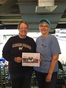 Lori attended Milwaukee Brewers vs. Philadelphia Phillies - MLB on Jun 15th 2018 via VetTix