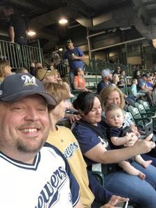 Joseph attended Milwaukee Brewers vs. Philadelphia Phillies - MLB on Jun 15th 2018 via VetTix
