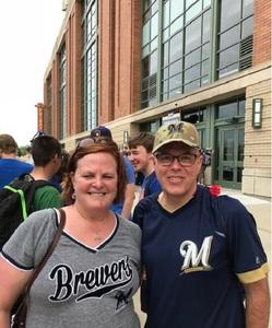 Bridget attended Milwaukee Brewers vs. Philadelphia Phillies - MLB on Jun 15th 2018 via VetTix