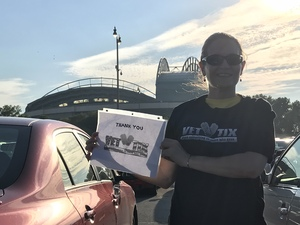 Jennifer attended Milwaukee Brewers vs. Atlanta Braves - MLB on Jul 5th 2018 via VetTix