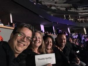 Oscar attended Luis Miguel Live at the Pepsi Center on May 20th 2018 via VetTix