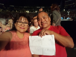 Wil attended Sugarland on May 31st 2018 via VetTix