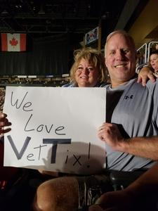 Don attended Sugarland on May 31st 2018 via VetTix