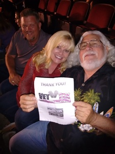 David attended Sugarland on May 31st 2018 via VetTix