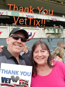 Thomas attended The 150th Belmont Stakes on Jun 9th 2018 via VetTix
