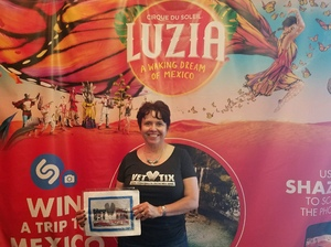 Darlene attended Cirque Du Soleil Performs Luzia on May 22nd 2018 via VetTix