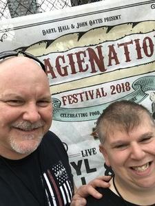 Jim attended Daryl Hall & John Oates Present Hoagienation on May 26th 2018 via VetTix