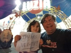 James attended Luzia by Cirque Du Soleil on May 25th 2018 via VetTix