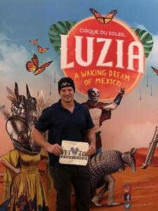 Kristian attended Luzia by Cirque Du Soleil on May 25th 2018 via VetTix
