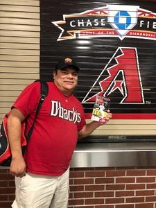 Pedro attended Arizona Diamondbacks vs. Miami Marlins - MLB on Jun 1st 2018 via VetTix