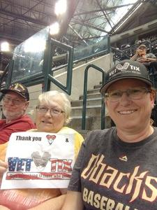 Kristina attended Arizona Diamondbacks vs. Miami Marlins - MLB on Jun 2nd 2018 via VetTix