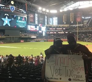 John attended Arizona Diamondbacks vs. Miami Marlins - MLB on Jun 3rd 2018 via VetTix
