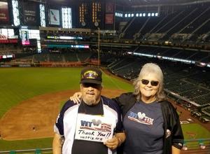 Marion attended Arizona Diamondbacks vs. Miami Marlins - MLB on Jun 3rd 2018 via VetTix