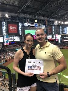 Michael attended Arizona Diamondbacks vs. Miami Marlins - MLB on Jun 3rd 2018 via VetTix