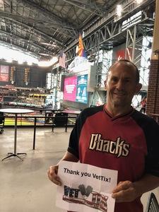 Ron attended Arizona Diamondbacks vs. Pittsburgh Pirates on Jun 13th 2018 via VetTix