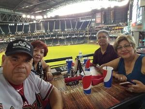Francisco attended Arizona Diamondbacks vs. Pittsburgh Pirates on Jun 13th 2018 via VetTix