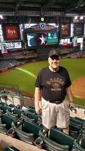 Ernest attended Arizona Diamondbacks vs. Pittsburgh Pirates on Jun 13th 2018 via VetTix