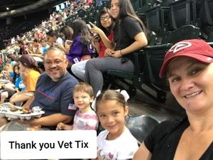 David attended Arizona Diamondbacks vs. Pittsburgh Pirates on Jun 13th 2018 via VetTix