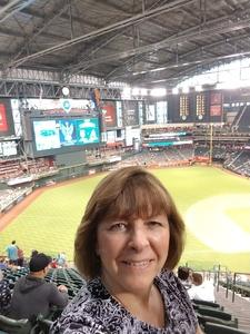 Deborah attended Arizona Diamondbacks vs. New York Mets - MLB on Jun 16th 2018 via VetTix
