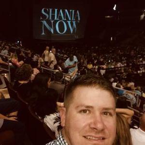 stuart attended Shania Twain: Now on Jun 12th 2018 via VetTix