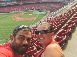 jamie attended Cincinnati Reds vs. St. Louis Cardinals - MLB on Jun 8th 2018 via VetTix