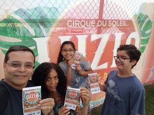 Muñoz Family attended LUZIA LUZIA by Cirque du Soleil on May 26th 2018 via VetTix