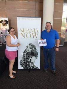 Gregory attended Shania Twain - Live in Concert on Jun 4th 2018 via VetTix