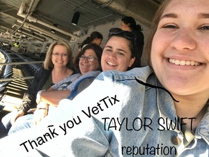 James attended Taylor Swift Reputation Stadium Tour on Jun 1st 2018 via VetTix