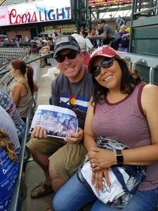 Todd attended Colorado Rockies vs. Arizona Diamondbacks - MLB on Jun 8th 2018 via VetTix