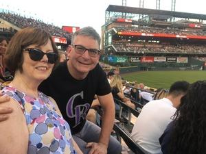 David attended Colorado Rockies vs. Arizona Diamondbacks - MLB on Jun 8th 2018 via VetTix