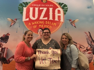 Elisabeth attended Luzia by Cirque Du Soleil - 8pm Show on Jun 2nd 2018 via VetTix