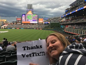 Jennifer attended Colorado Rockies vs. Miami Marlins - MLB - Sunday on Jun 24th 2018 via VetTix