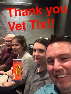 Brian attended David Blaine Live on Jun 3rd 2018 via VetTix
