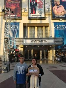 Luis and kids attended The Monkees Present the Mike & Micky Show on Jun 5th 2018 via VetTix
