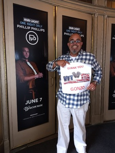 George attended Bud Light One Night Only Featuring Phillip Phillips on Jun 7th 2018 via VetTix