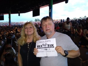 Mark attended Rascal Flatts Back to US Tour on Jun 8th 2018 via VetTix