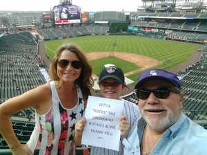 ELEFTHERIOS attended Colorado Rockies vs. San Francisco Giants - MLB on Jul 2nd 2018 via VetTix