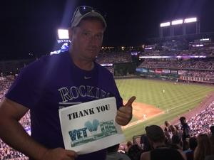 Jason attended Colorado Rockies vs. San Francisco Giants - MLB on Jul 2nd 2018 via VetTix