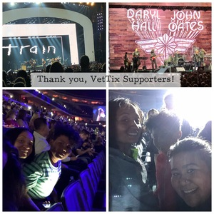 Jennifer attended Daryl Hall & John Oates and Train on Jun 11th 2018 via VetTix