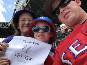 James attended Texas Rangers vs. Colorado Rockies - MLB on Jun 17th 2018 via VetTix