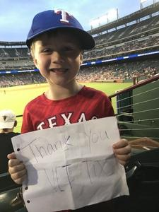 Jacqueline attended Texas Rangers vs. Arizona Diamondbacks - MLB on Aug 13th 2018 via VetTix
