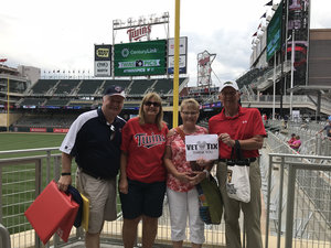 TIMOTHY attended Minnesota Twins vs. Texas Rangers - MLB on Jun 24th 2018 via VetTix