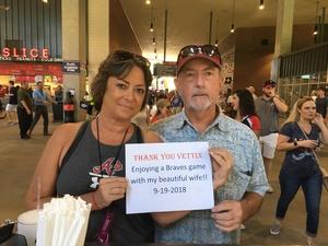 Donnie attended Atlanta Braves vs. St. Louis Cardinals - MLB on Sep 19th 2018 via VetTix
