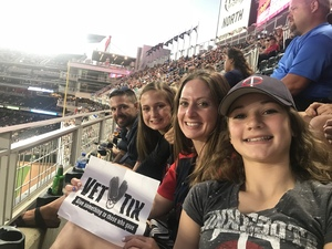 Rachael attended Minnesota Twins vs. Baltimore Orioles - MLB on Jul 5th 2018 via VetTix