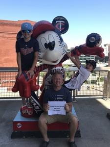 Teeshan attended Minnesota Twins vs. Baltimore Orioles - MLB on Jul 7th 2018 via VetTix